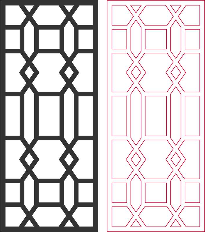 beautiful living room partition pattern Free Dxf File for CNC