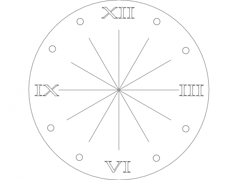 clock rom num Free Dxf File for CNC File Free Download | 3D Free Vector