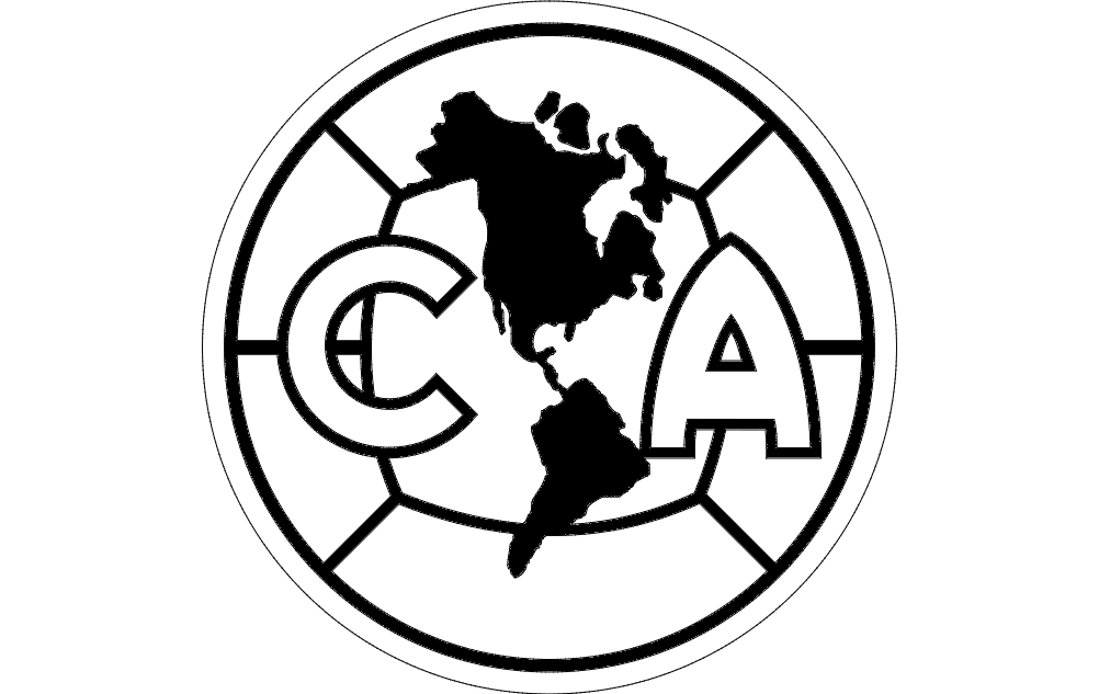 ca (club america) Free Dxf File for CNC