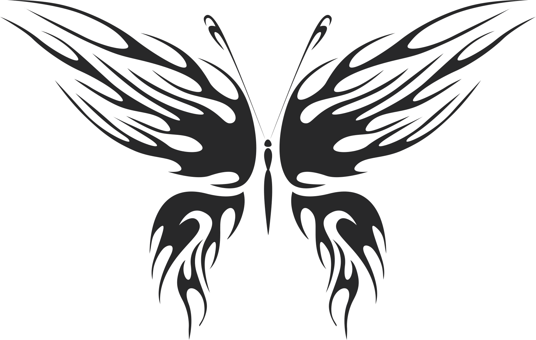 tribal butterfly vector art 27 Free Dxf File for CNC