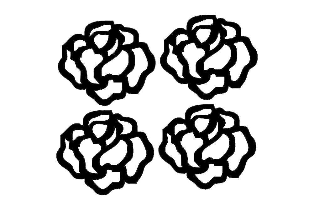 rosa Free Dxf File for CNC