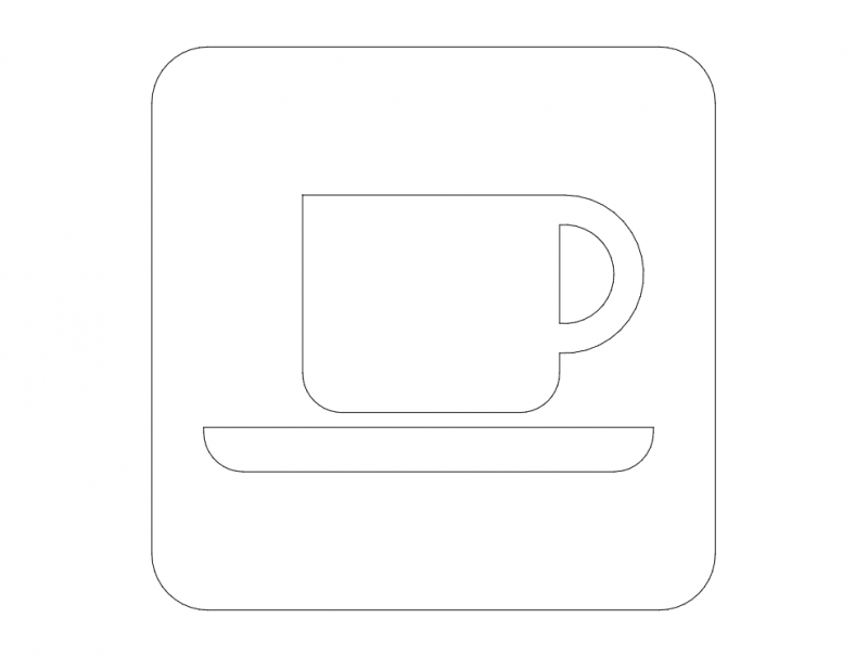 coffee road sign Free Dxf File for CNC