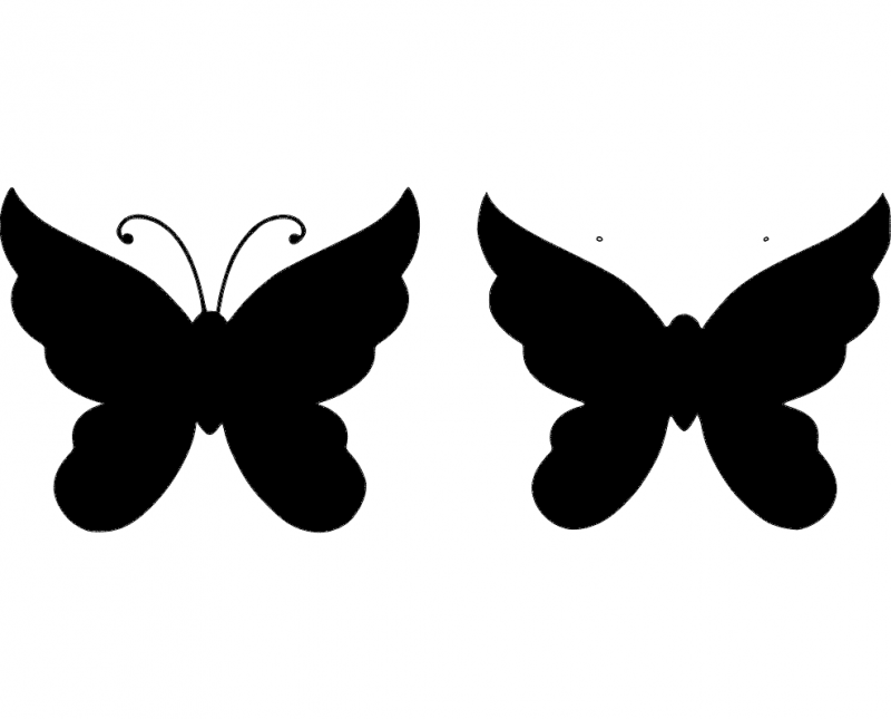 butterfly 27 Free Dxf File for CNC