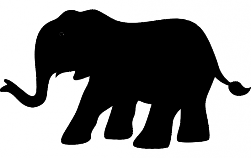 elephant silhouette vector Free Dxf File for CNC