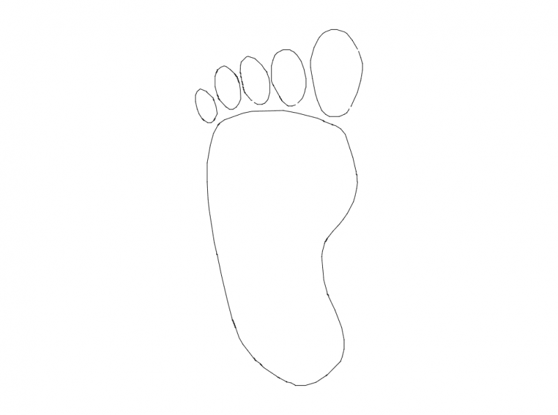foot print Free Dxf File for CNC