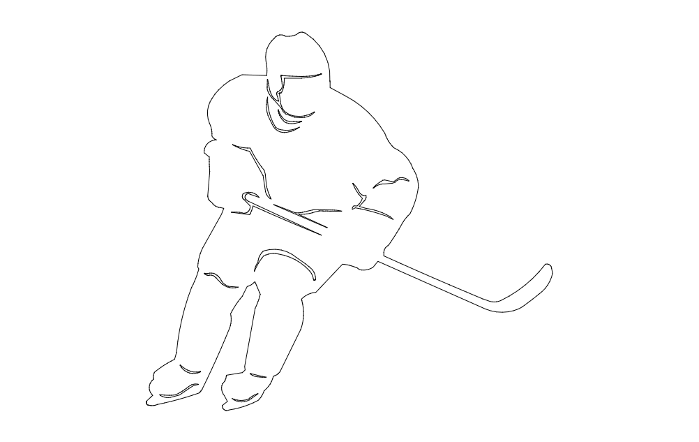 hockey player Free Dxf File for CNC