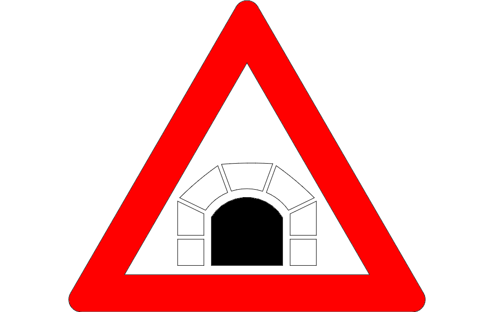 road sign tunnel ahead Free Dxf File for CNC
