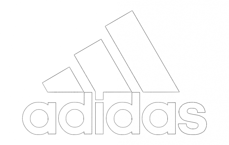 adidas logo vector Free Dxf File for CNC